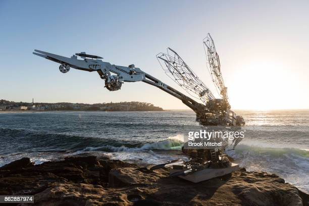 The work 'Rangerer' by Xia Hang at Sculpture By The Sea at Bondi Beach on October 19 2017 in Sydney Australia