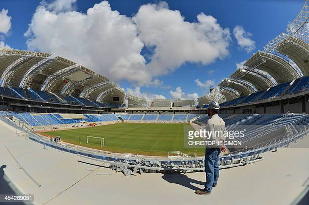 The works at the Arenas das Dunas stadium in Natal northeastern Brazil on December 8 2013 The Arenas das Dunas will host some of the FIFA WC Brazil...