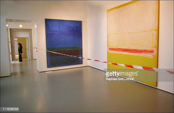 The works by Mark Rothko in Francois Pinault's contemporary art collection is installed at the Palazzo Grassi in Venice Italy on April 14th 2006