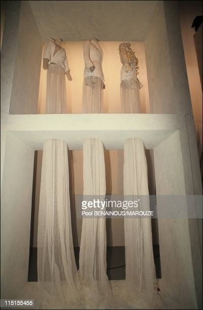 'The world according to its creators' of the museum of custum and fashion in Paris France on June 06 1991 Martin Margiela's space
