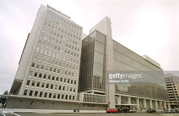 The World Bank building is seen in Washington DC April 3 2000 Protesters plan to block delegates from the World Bank and the International Monetary...