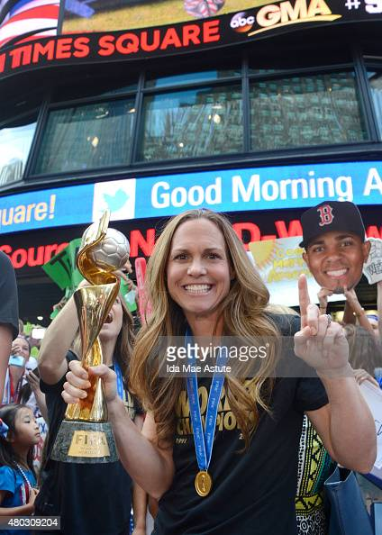 AMERICA The World Cup Champion Women's Soccer Team appears on GOOD MORNING AMERICA 7/8/15 airing on the ABC Television Network Team USA stopped by...