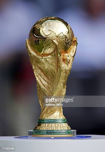 The World Cup trophy pictured during the FIFA World Cup Germany 2006 Final match between Italy and France at the Olympic Stadium on July 9 2006 in...