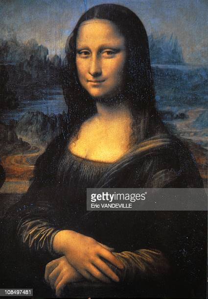 The world famous painting by Leonardo da Vinci exhibited at the Louvre in Paris The burial place of Leonardo Da Vinci's Mona Lisa located in the...