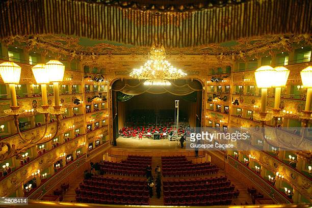 The world famous theater La Fenice prepares to reopen December 13 2003 in Venice Italy