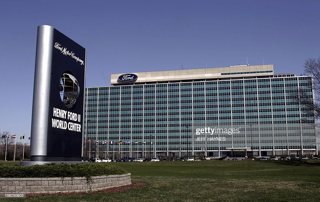 The world headquarters for the Ford Motor Company seen 15 April 2005 in Dearborn, Michigan. The Ford Company now includes Ford, Lincoln, Mercury, Mazda, Volvo, Jaguar, Land Rover and Austin Martin.