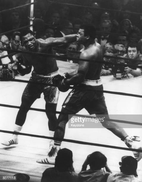 The World Heavyweight title fight between Joe Frazier and Muhammad Ali at Madison Square Garden Frazier won on points
