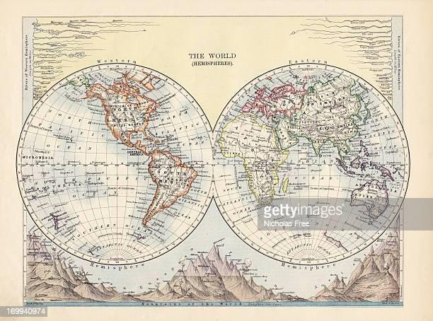 ヘミスフィアズアンティークの地図の世界