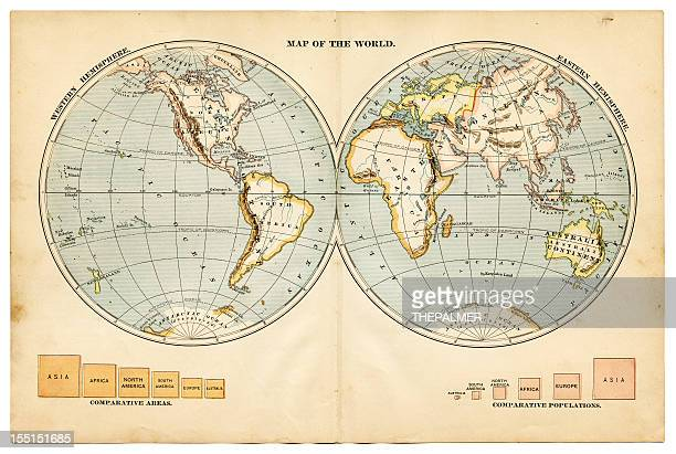 the world in hemispheres 1883