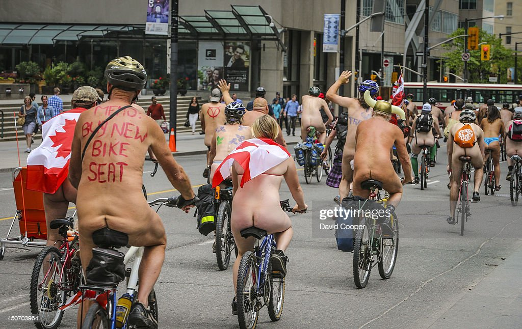 Cyclist naked world