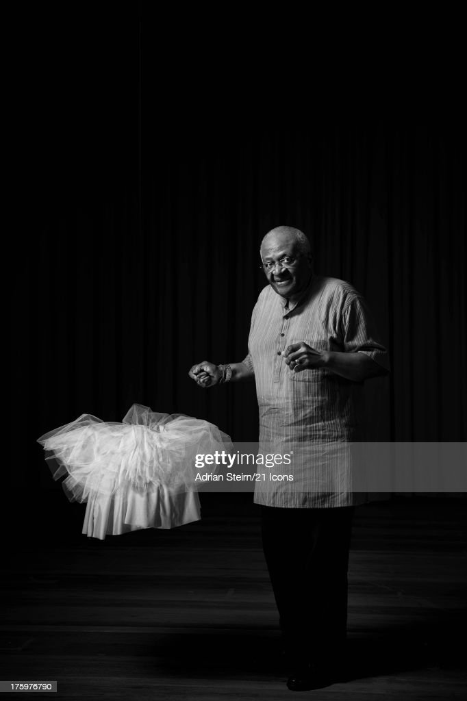 'The World Needs Another Tutu'. Archbishop Emeritus <a gi-track='captionPersonalityLinkClicked' href=/galleries/search?phrase=Desmond+Tutu&family=editorial&specificpeople=214730 ng-click='$event.stopPropagation()'>Desmond Tutu</a> is pictured in December 2009 at Jan van Riebeeck High School, Cape Town, as part of photographer and filmmaker Adrian Sterirn's 21 Icons South Africa series. Inspired by Nelson Mandela, 21 Icons is a series of short films and photographic portraits documenting the stories of key figures in South Africa's recent history including former presidents Nelson Mandela and FW de Klerk. Proceeds from the syndication of this portrait will be donated to The Desmond and Leah Tutu Legacy Foundation.