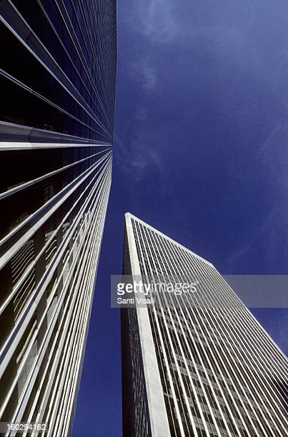 The World Trade Center towers in Century City in 1991 in Los Angeles California