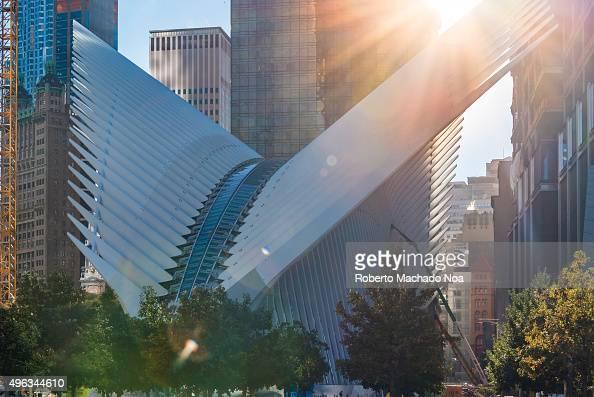 The World Trade Center Transportation Hub by Spanish architect Santiago Calatrava in New York city