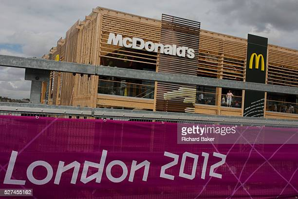 The world's biggest McDonald's in the Olympic Park during the London 2012 Olympics or the past 40 years McDonalds has been the Official Restaurant...