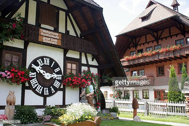 The worlds largest cuckoo clock which is now a tourist attraction in the Black Forest village of Schonwald