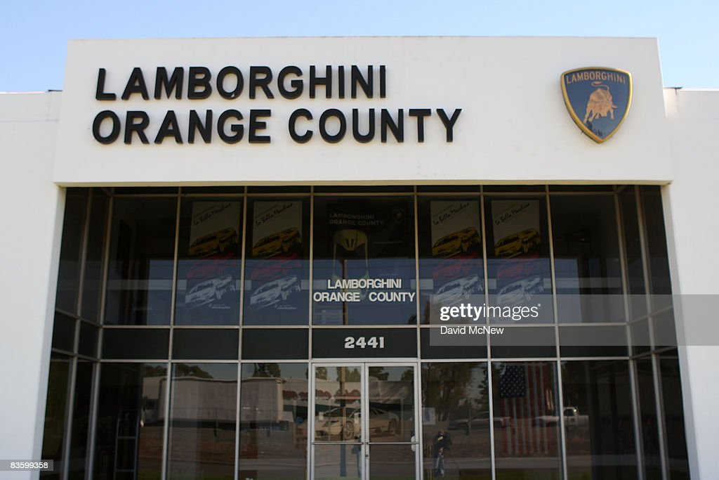The world's largest dealer of Lamborghini, Lamborghini Orange County, stands vacant on November 6, 2008 in Santa Ana, California. The dealership, which was renowned for its $600,000 12-cylinder sports cars and its celebrity customers, abruptly went out of business this week. Lamborghini Orange County sold about 10 percent of the 2,400 Lamborghinis built each year. Stars, including Elton John and Sharon Stone, have participated in its promotional parties, and earlier this year actors Eric Roberts and Luke Perry arrived to attend a company event by helicopter from Los Angeles. The company did not comment on the reasons for its demise.