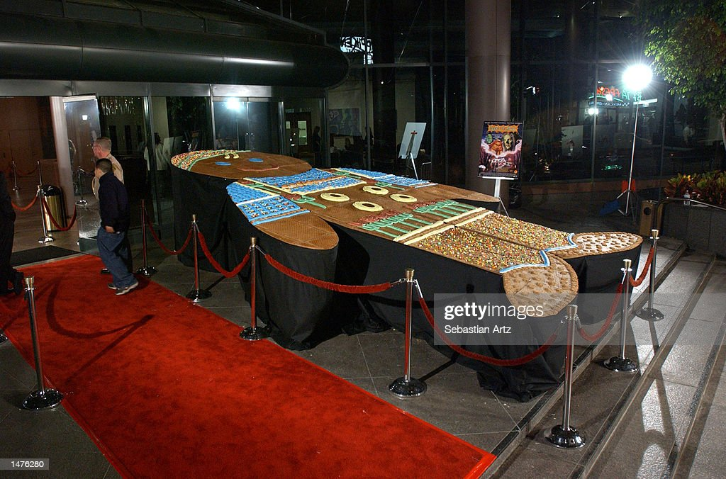 The world's largest gingerbread man, measuring 20 feet, is on display at the premiere of the movie 'Hansel & Gretel' on October 14, 2002 in Los Angeles, California.