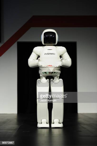 The World's Most Advanced Humanoid Robot ASIMO is presented at the Honda Premiere of 'Living With Robots' and Live Demonstrations of ASIMO at Village...