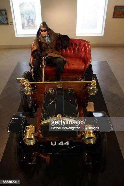 The worlds oldest surviving Rolls Royce car no 20154 built in 1904 on display at Bonhams in London The vehicle is a two seater and has a 10 hp engine