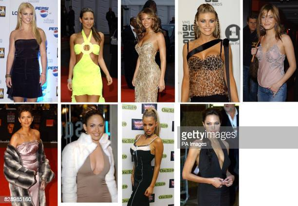 The worlds sexiest women Left to right top Britney Spears Rachel Stevens Beyonce Knowles Carmen Electra and Holly Valance Left to right below Halle...