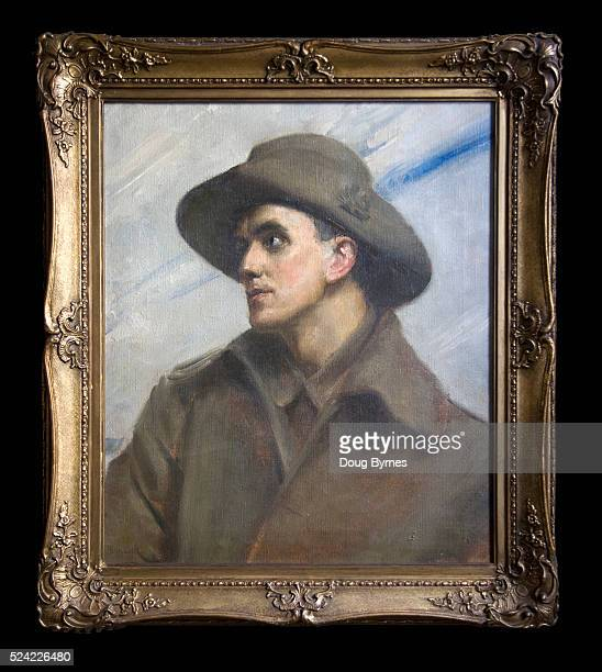 'The Wounded ANZAC' painted in the UK Oil on canvas by the Australian Impressionist Tom Roberts in 1918 Painting of his cousin an ANZAC who was...