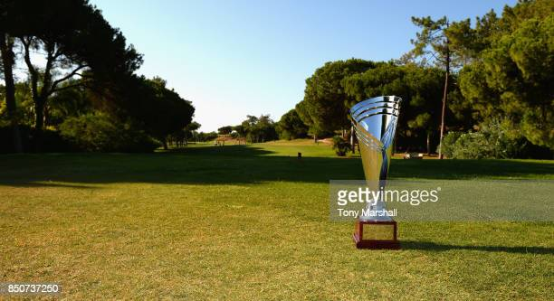 The WPGA Lombard Trophy on the 1st tee during The WPGA Lombard Trophy Final Day One on September 21 2017 in Albufeira Portugal