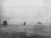 The wreck of HMS Invincible Jutland 31st May 1916 This photograph was taken from HMS Benbow about half an hour after the destruction of the ship The...