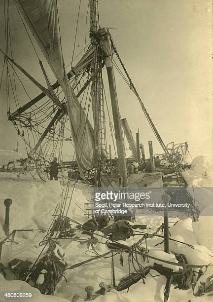 The wreck of the 'Endurance' during the Imperial TransAntarctic Expedition 191417 led by Ernest Shackleton