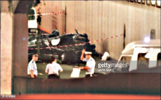 The wreckage of Princess Diana's car lies in a Paris tunnel 31 August Diana was seriously injured and companion Dodi Al Fayed killed during the...