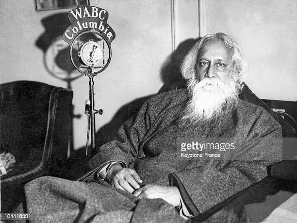 The writer and poet Rabindranath Tagore expressed at the microphone of WABC Columbia on the theme 'The World rebuilt by Youth' in India on 20...