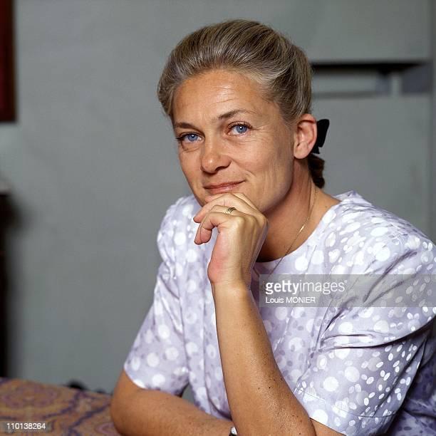 The writer Elisabeth Badinter in France on July 1992