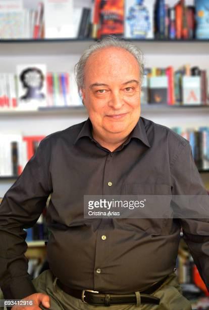 The writer Enrique Vila Matas attends Book Fair 2017 at El Retiro Park on June 3 2017 in Madrid Spain