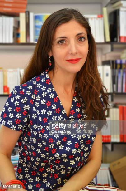 The writer Espido Freire attends Book Fair 2017 at El Retiro Park on May 28 2017 in Madrid Spain