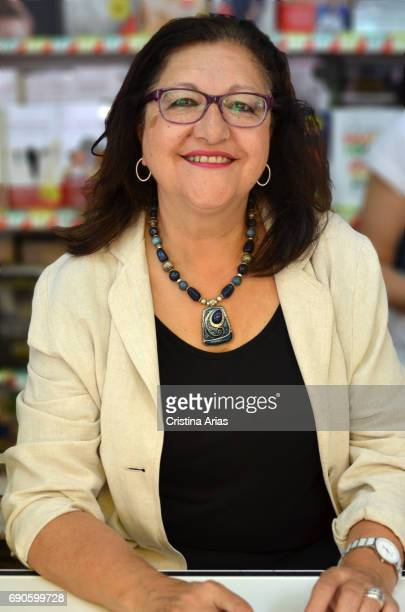 The writer Inma Chacon attends Book Fair 2017 at El Retiro Park on May 28 2017 in Madrid Spain