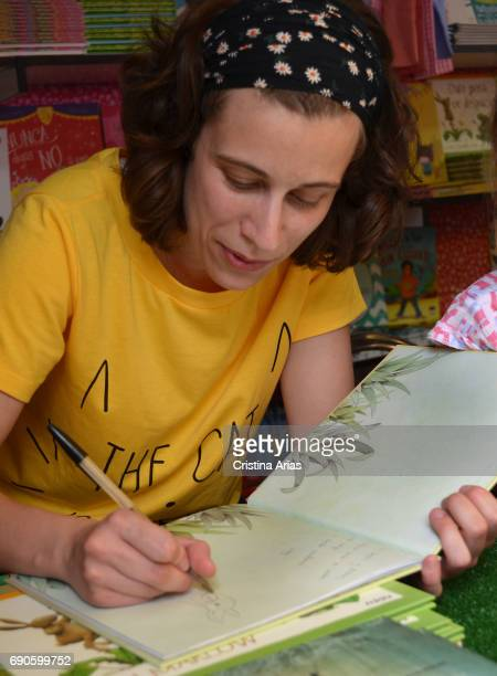 The writer Isabel Rey ´Chumfley ´author attends Book Fair 2017 at El Retiro Park on May 28 2017 in Madrid Spain
