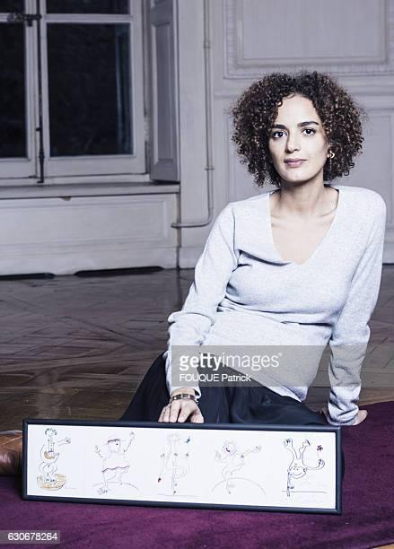 the writer Leila Slimani on november 10 2016 in Paris France