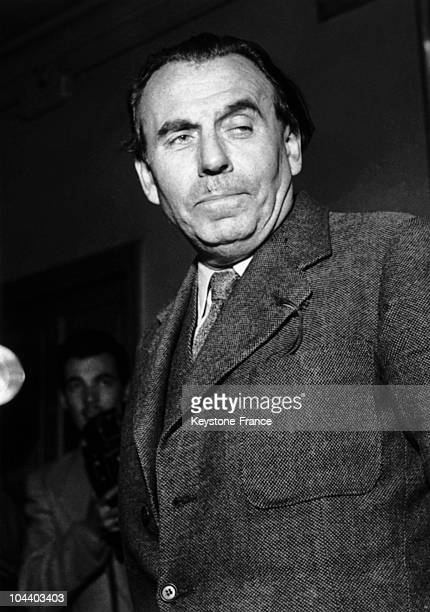 The writer LouisFerdinand CELINE in the corridors of the Palais de Justice He had brought an action against JUILLARD editions They had published...
