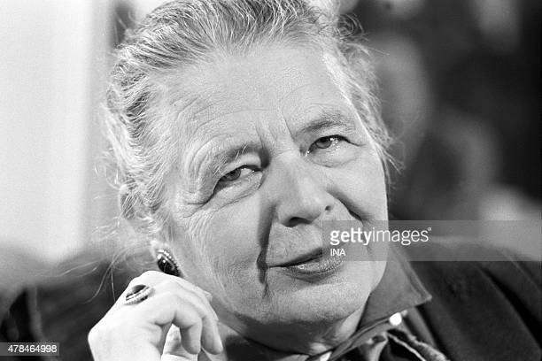 The writer Marguerite Yourcenar interviewed in the program ''Library of Pocket