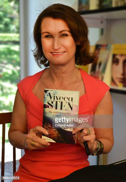 The writer Viveca Sten attends Book Fair 2017 at El Retiro Park on May 28 2017 in Madrid Spain