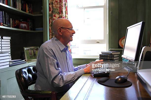 The writer Wilbur Smith photo shooted at home in the borough of Kensington in London London Great Britain 1st April 2009