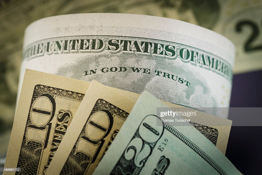 The writing ' In God we trust ' is seen on a dollar bill on August 14, 2015, in Berlin, Germany.