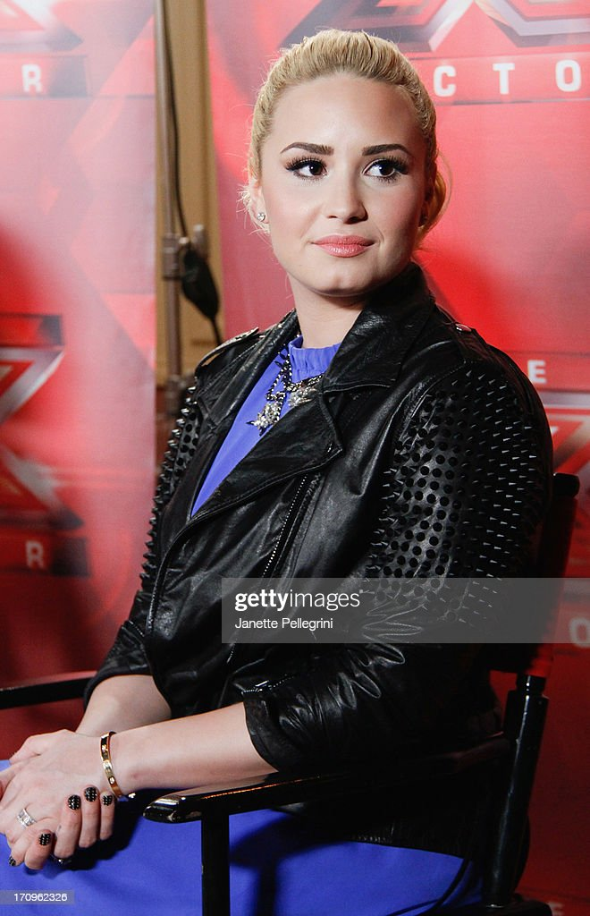 'The X Factor' Judge <a gi-track='captionPersonalityLinkClicked' href=/galleries/search?phrase=Demi+Lovato&family=editorial&specificpeople=4897002 ng-click='$event.stopPropagation()'>Demi Lovato</a> attends the 'The X Factor' Judges press conference at Nassau Veterans Memorial Coliseum on June 20, 2013 in Uniondale, New York.
