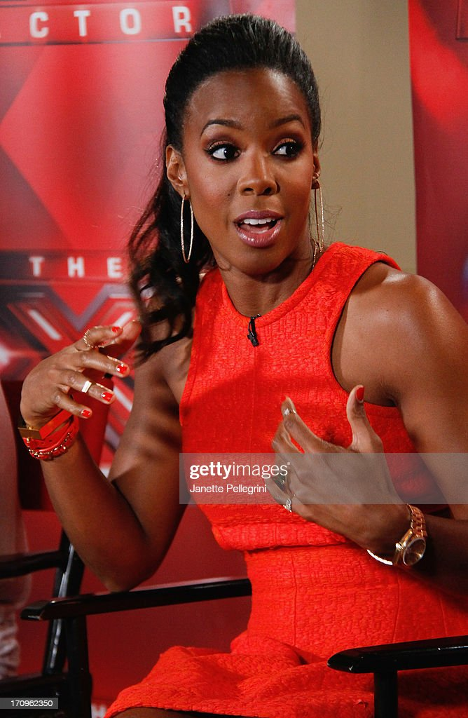 'The X Factor' Judge <a gi-track='captionPersonalityLinkClicked' href=/galleries/search?phrase=Kelly+Rowland&family=editorial&specificpeople=201760 ng-click='$event.stopPropagation()'>Kelly Rowland</a> attends the 'The X Factor' Judges press conference at Nassau Veterans Memorial Coliseum on June 20, 2013 in Uniondale, New York.