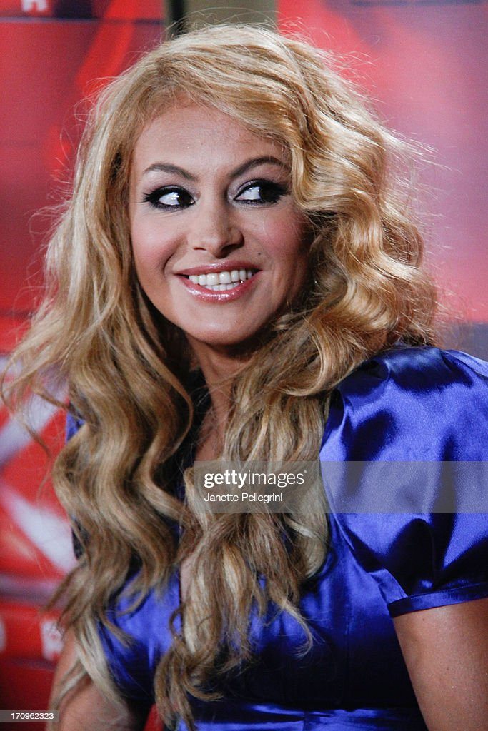 'The X Factor' Judge <a gi-track='captionPersonalityLinkClicked' href=/galleries/search?phrase=Paulina+Rubio&family=editorial&specificpeople=201804 ng-click='$event.stopPropagation()'>Paulina Rubio</a> attends the 'The X Factor' Judges press conference at Nassau Veterans Memorial Coliseum on June 20, 2013 in Uniondale, New York.