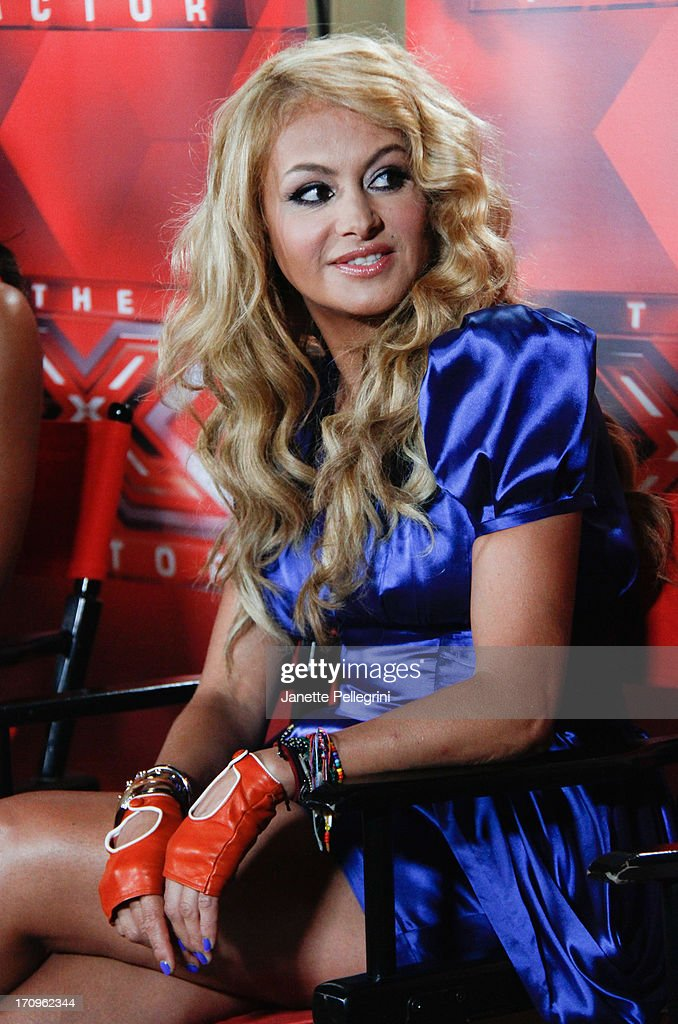 'The X Factor' Judge Paulina Rubio attends the 'The X Factor' Judges press conference at Nassau Veterans Memorial Coliseum on June 20, 2013 in Uniondale, New York.