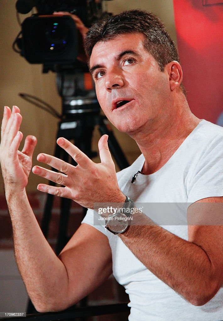 'The X Factor' Judge <a gi-track='captionPersonalityLinkClicked' href=/galleries/search?phrase=Simon+Cowell&family=editorial&specificpeople=203007 ng-click='$event.stopPropagation()'>Simon Cowell</a> attends the 'The X Factor' Judges press conference at Nassau Veterans Memorial Coliseum on June 20, 2013 in Uniondale, New York.