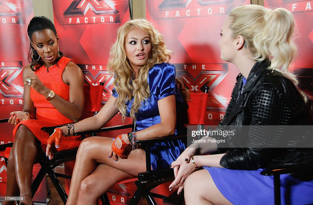 'The X Factor' Judges Kelly Rowland, Paulina Rubio and Demi Lovato attend the 'The X Factor' Judges press conference at Nassau Veterans Memorial Coliseum on June 20, 2013 in Uniondale, New York.