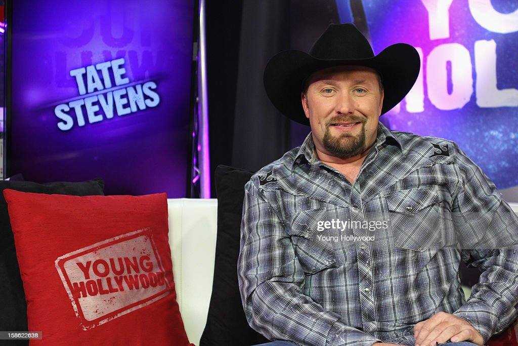 'The X Factor' winner Tate Stevens visits the Young Hollywood Studio on December 21, 2012 in Los Angeles, California.