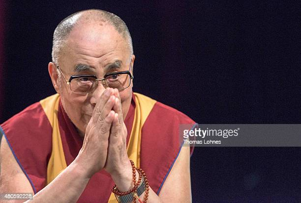 The XIV Dalai Lama attends 80th birthday celebrations at the 'Jahrhunderthalle' on July 13 2015 in Frankfurt Germany