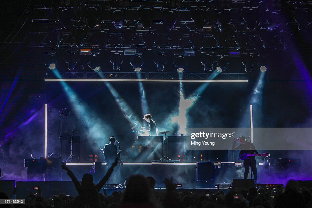 The XX performs at The Night and Day Festival Hatfield House on June 23, 2013 in Hatfield, England.